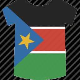 shirt, south, sudan icon