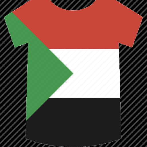 shirt, sudan icon