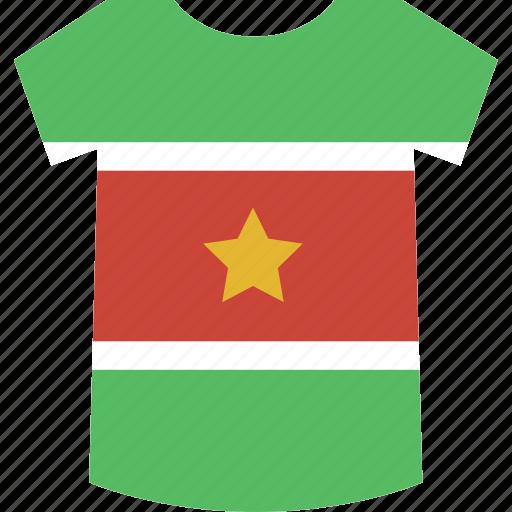 shirt, suriname icon