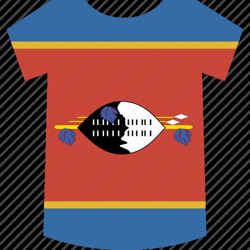 shirt, swaziland icon