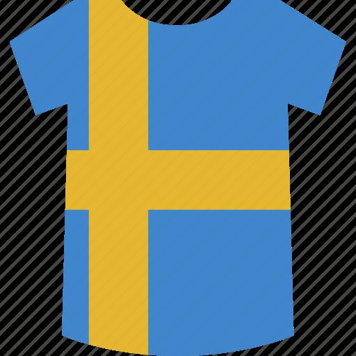 shirt, sweden icon