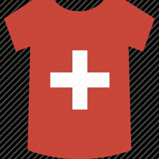 shirt, switzeland icon