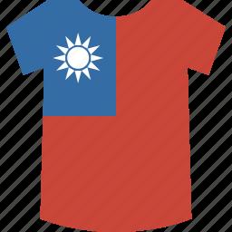shirt, taiwan icon