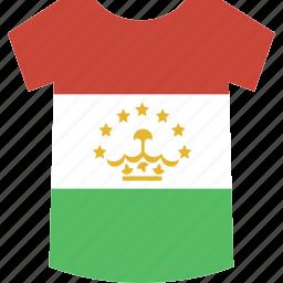 shirt, tajikistan icon