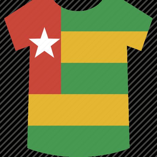 shirt, togo icon