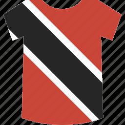 and, shirt, tobago, trinidad icon
