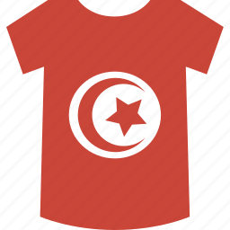 shirt, tunisia icon