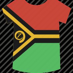 shirt, vanuatu icon