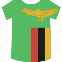 shirt, zambia icon