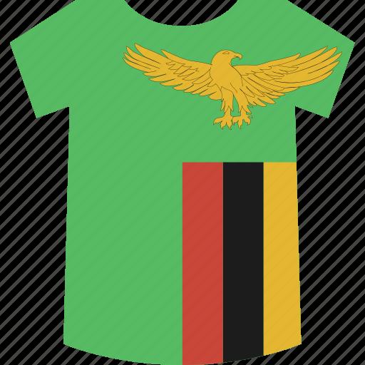 shirt, zambia icon