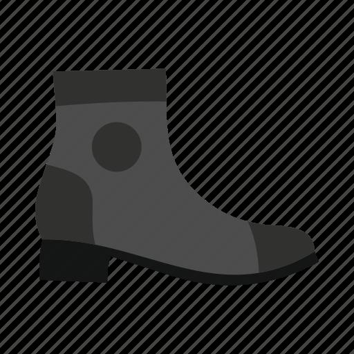 boot, fashion, female, foot, fur, heel, shoe icon