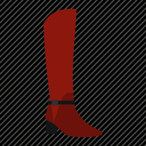boot, female, heel, modern, pair, shoe, wear icon