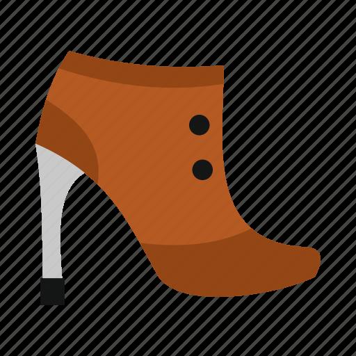 boot, female, high, modern, pair, shoe, wear icon