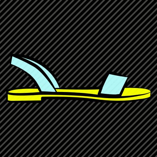 flat sandals, shoes, women's shoes icon