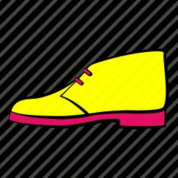desert boots, shoes, women's shoes icon