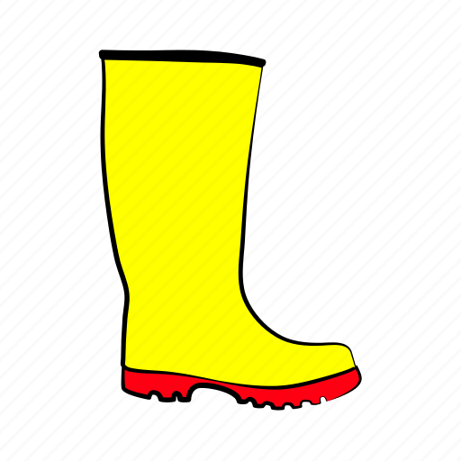 rain boots, shoes, women's shoes icon