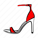 high heel sandals, shoes, women's shoes icon