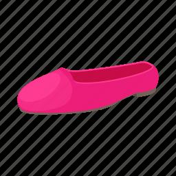 ballerina, cartoon, fashion, female, shoe, style, white icon