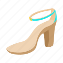 cartoon, fashion, female, heel, high, shoe, woman icon