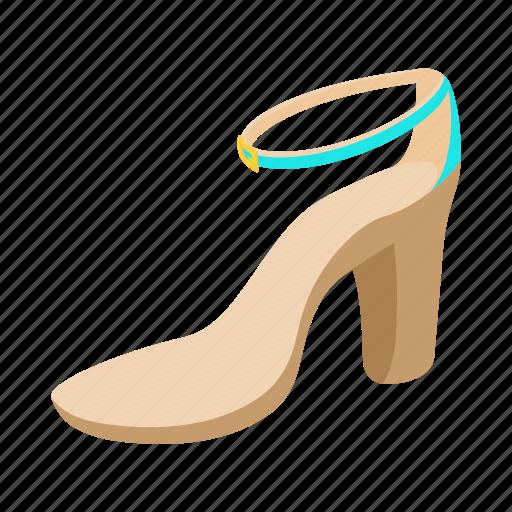 Cartoon Fashion Female Heel High Shoe Woman Icon