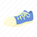 blue, cartoon, fashion, male, shoe, sneaker, sport icon