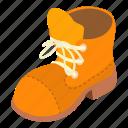 hiking, isometric, logo, object, shoe, sole, tall