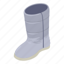 boot, isometric, logo, object, safety, shoe, winter