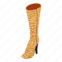 boot, heeled, isometric, logo, object, sole, tall