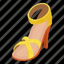 beach, isometric, logo, object, sandal, slipper, thong