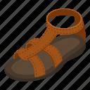 isometric, logo, object, sandal, sole, summer, tall