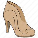 clog shoes, heel pumps, nude pumps, prism shoes, spool heel icon