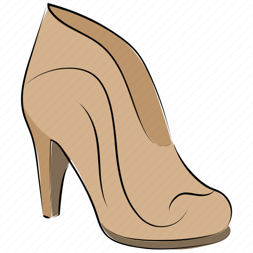 clog shoes, heel pumps, nude pumps, prism shoes, spool heel icon