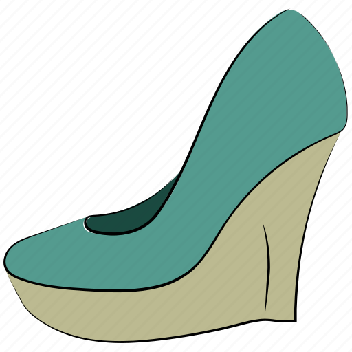 clog shoes, footwear, heel wedges, lady shoes, prism shoes, wedges, women shoes icon