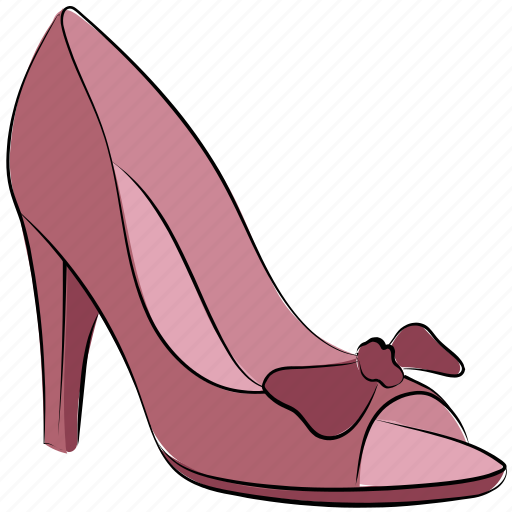 fashion shoes, heel shoes, heels, lady sandal, slingback, stiletto heel icon