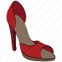 heel, heel shoes, lady shoes, nude pump, sling shoes, stiletto heel icon