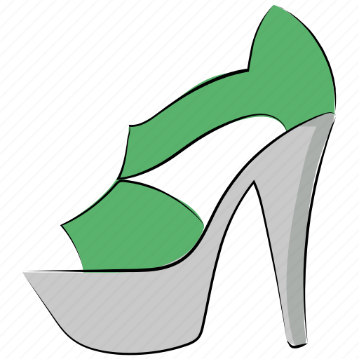 footwear, heel sandal, high heel shoes, occasion shoes, party shoes, women shoes icon
