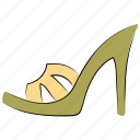 female sandal, footwear, heel sandal, party shoes, sandal, shoes icon
