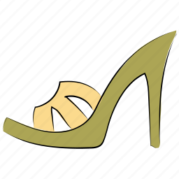 female sandal, footwear, heel sandal, party shoes, sandal, shoes icon
