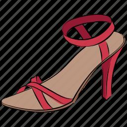heel sandal, ladies sandal, part shoes, sandal, summer sandal icon