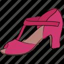 ladies sandal, lady shoes, occasion shoes, pumps sandal, singback, sling shoes icon