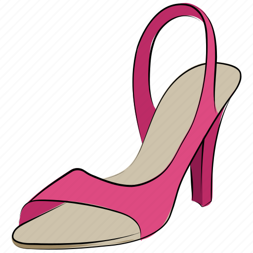 heel sandal, heel shoes, lady shoes, stiletto heel, women shoes icon