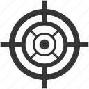 aim, arrow, bullseye, game, goal, shooting, target icon