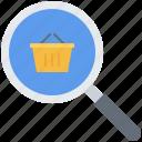 basket, commerce, magnifier, market, search, shop, shopping