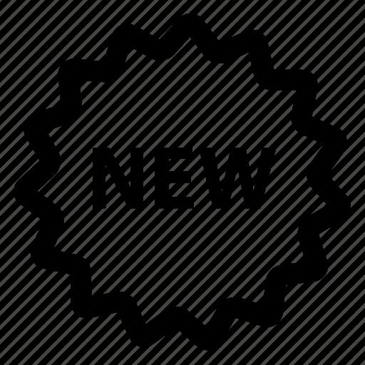 label, new, shop, sticker icon