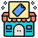 business, ecommerce, mobile, phone, shop, smartphone, store icon