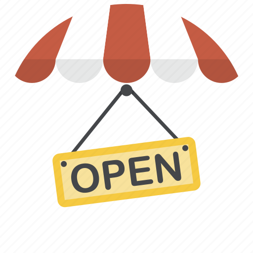 open sign, opening hours, shop, shop open, sign, store, store open icon