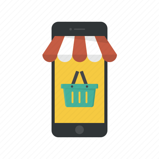 basket, mobile, online store, shop app, shop mobile, shopping basket, shopping mobile icon
