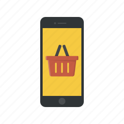 basket, mobile shop, mobile shopping, mobile store, online shop, online shopping, shopping basket icon