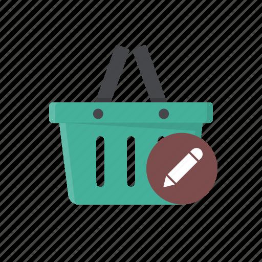 basket, check basket, edit basket, review basket, review shopping basket, shopping basket, webshop icon