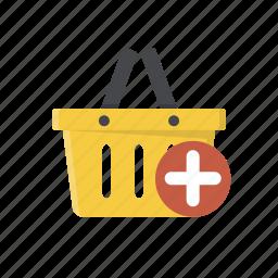 add item, add to basket, add to cart, basket, buy, online shopping, shopping basket icon
